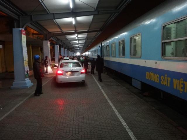 Un taxi à la descente du train !
