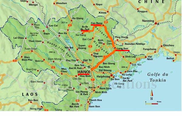 trajet nord vietnam