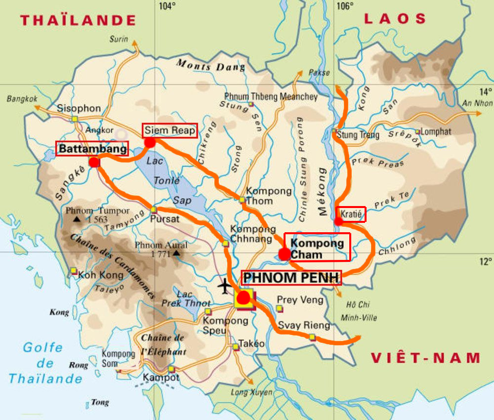 trajet cambodge