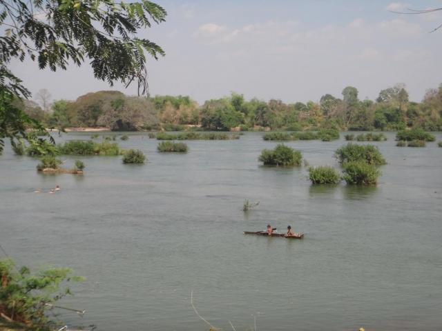 Don Det, vue sur le Mékong.