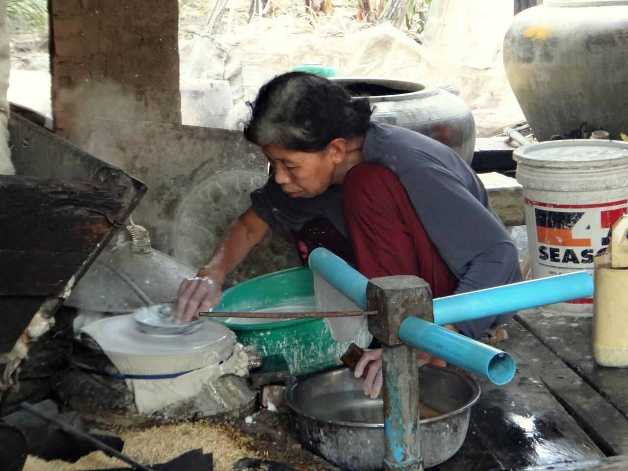 fabrication de feuille de riz
