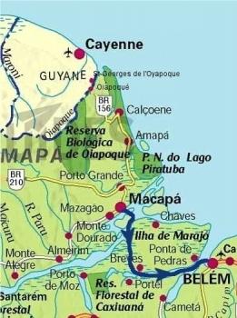 carte traversée embouchure amazone