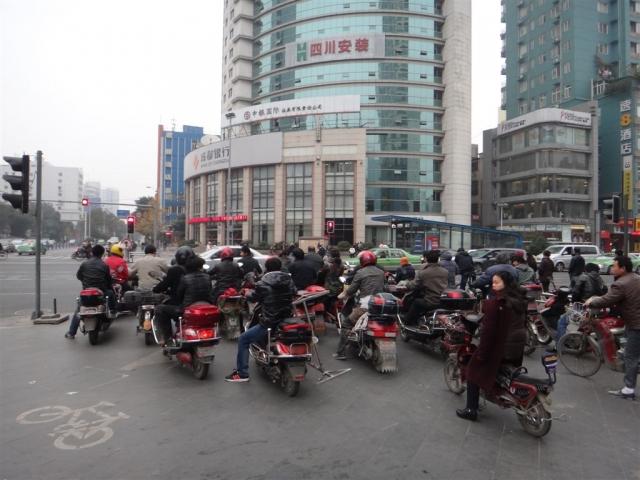 Traffic à Chengdu.