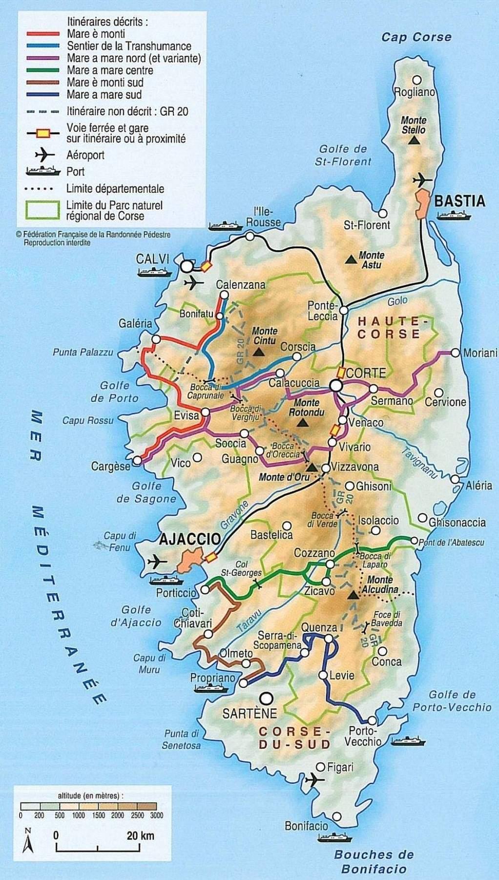 Carte Corse Serriera.Mare E Monti Informations Etapes Materiels Carnet De Route