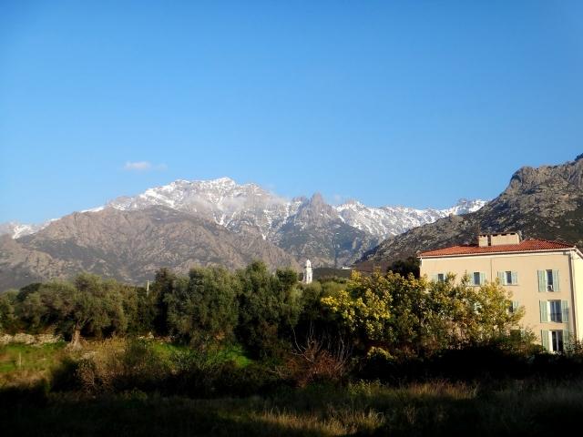 vue du gite à calenzana