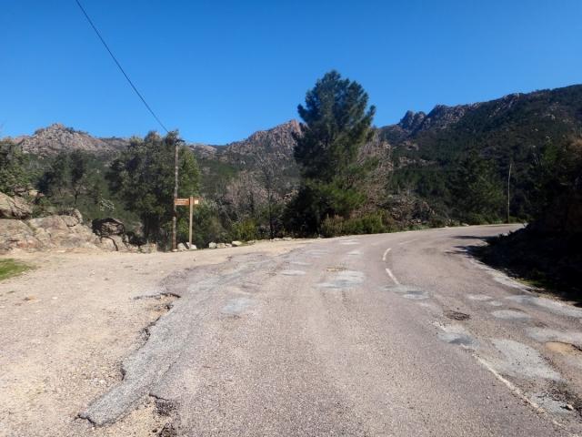 jonction avec la route vers Bonifatu