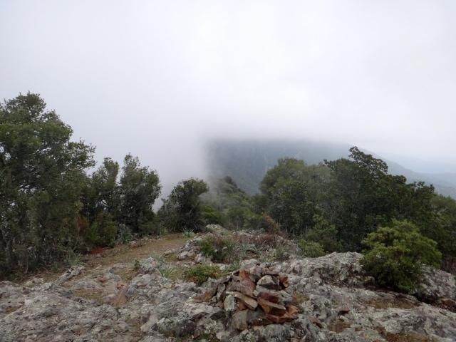 brouillard sur la crête du Capu di Linu