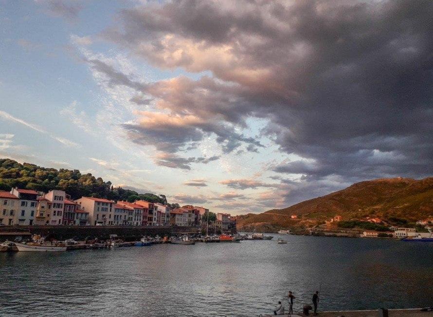 Les nuages partent de Port-Vendres