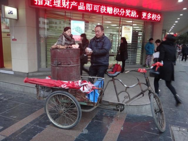 Vendeur de patates douces
