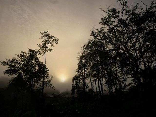 Levé de soleil sur Saül