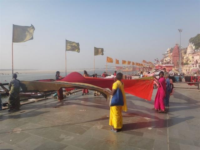 Séchage des saris