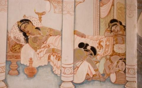 Décès de la mère de Siddhartha.