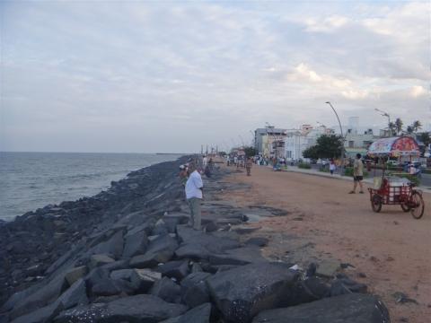 Bord de mer à Pondicherry