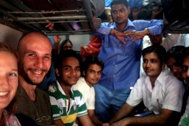 Dans le train pour Varanasi.