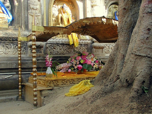 Vajrasana ou trône de diamant.