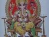 Ganesh, accompagné de son véhicule, le rat.