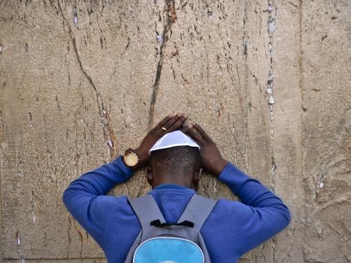Prière sur le mur des lamentations - Jérusalem