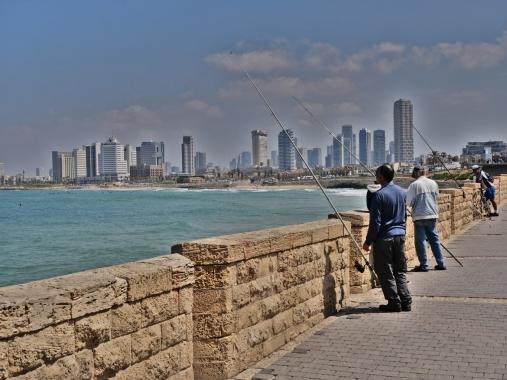 Pêcheurs à Tel Aviv