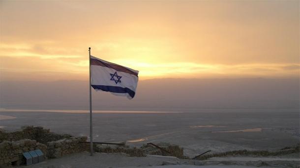 drapeau israel à Massada
