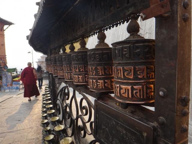 Moulins à prières au temple Swayambhunath