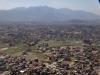 Vue d'avion sur la ville de Katmandou.