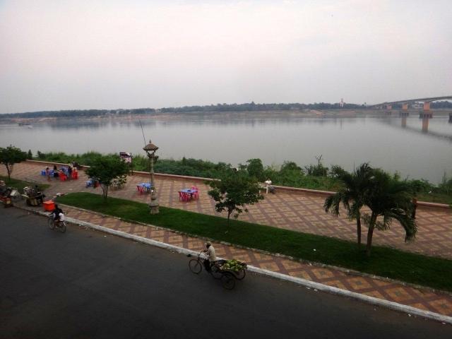 Vue depuis l'hotel Mekong Sunrise
