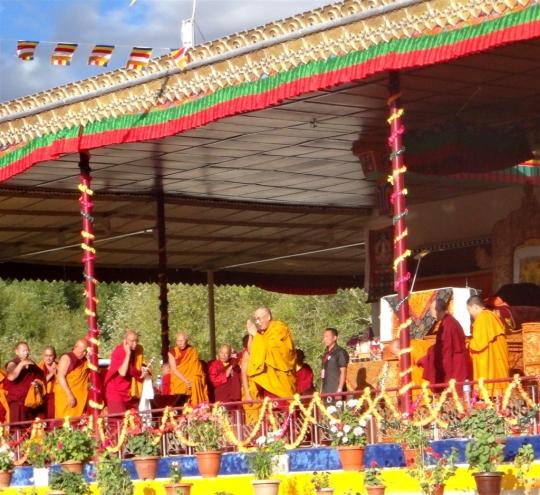 Le Dalaï-lama, le 21 août à Choglamsar.
