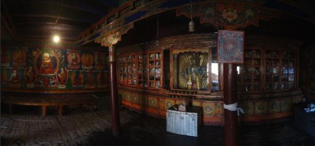 Monastère de Likir, vue de l'intérieur.