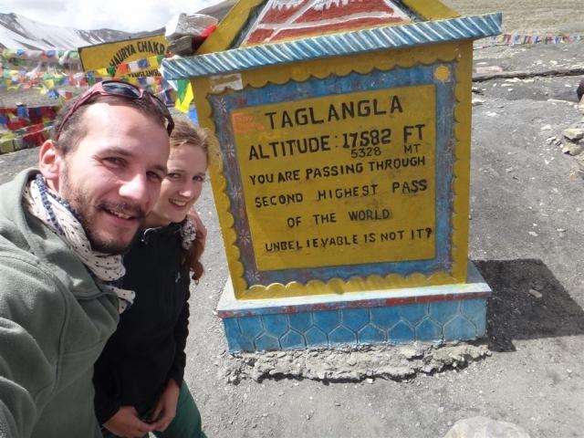 Le plus au col que l'on traversera, Talangla à 5328m.