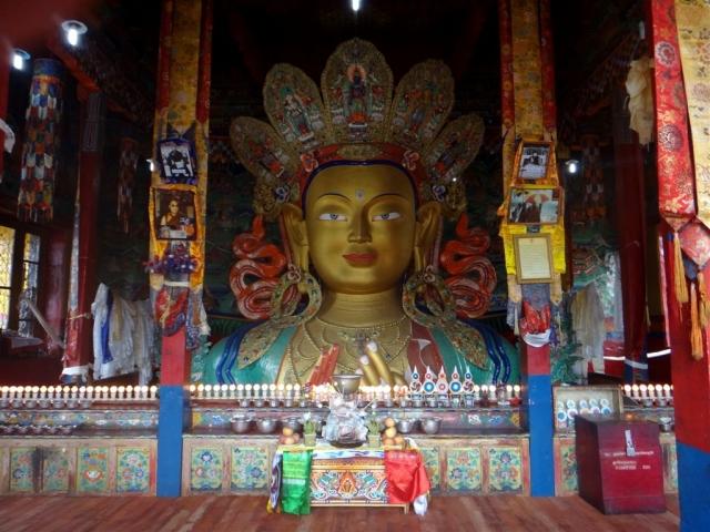 Bouddha maitreya au monastère de Thiksey.