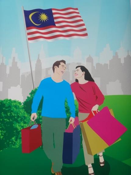 A Kuala, on est bien avec des sacs plein les mains!