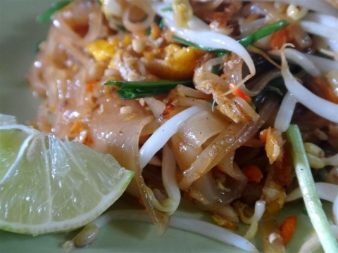 Pad thaï, plat traditionnel thaï.