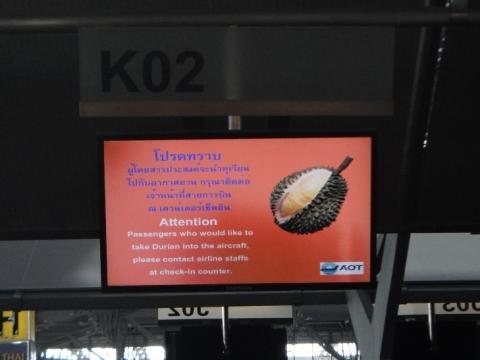 ... et des durians!