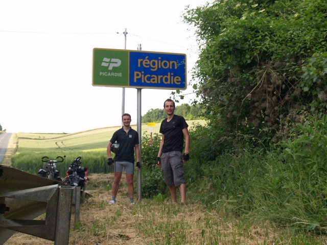Arrivée en Picardie