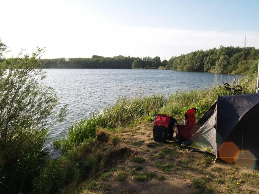 camping au bord du lac de Donk en Bélgique