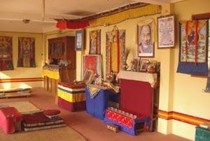 L'autel de la pièce principale.
