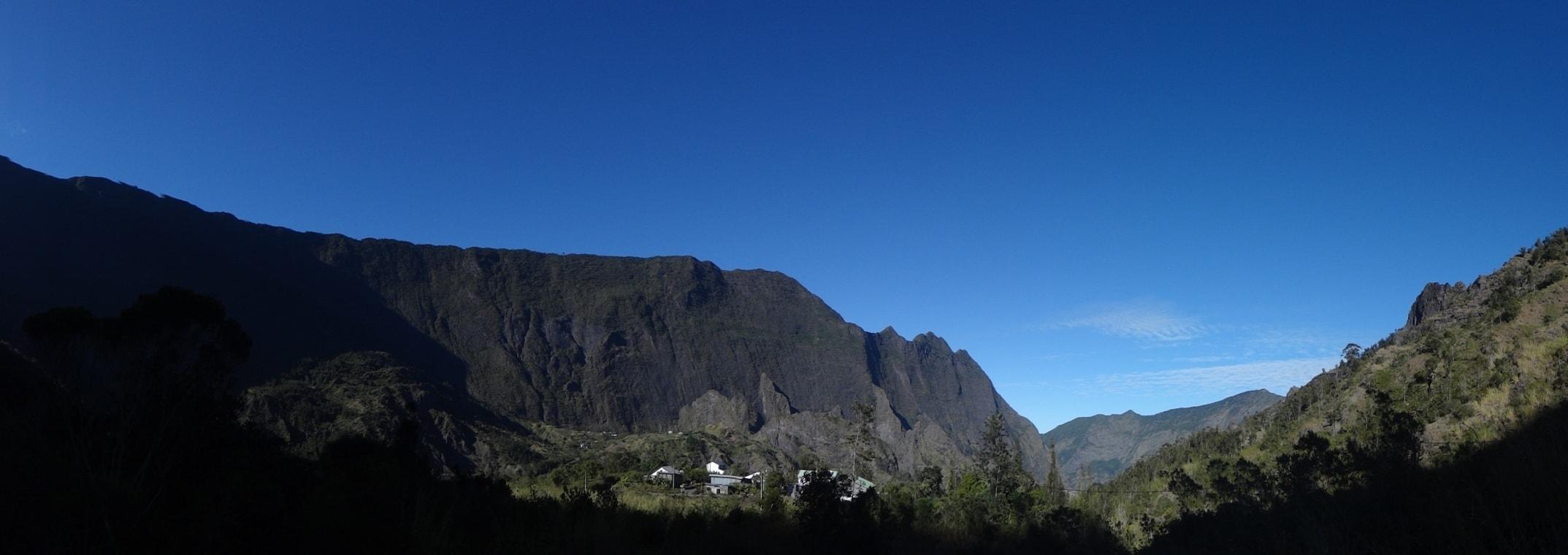 Vue depuis le domaine Papangue à Cilaos