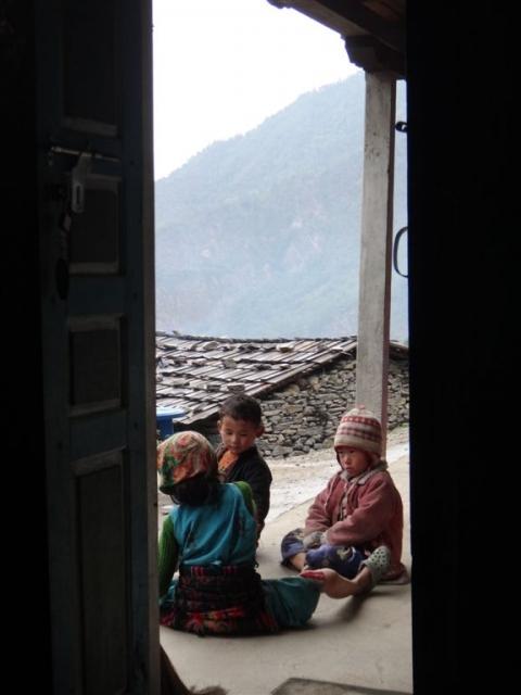 Enfants de notre guesthouse à Gatlang.