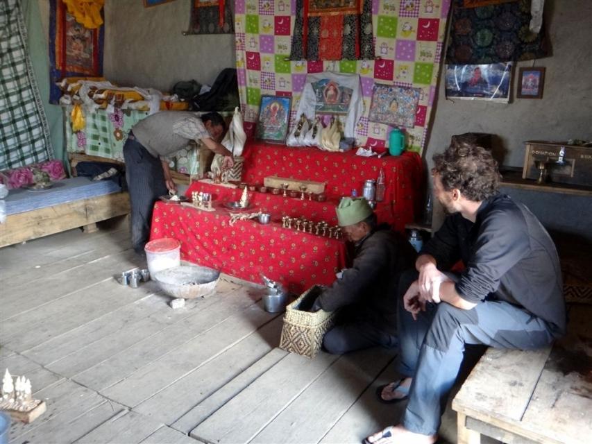 Puja au népal