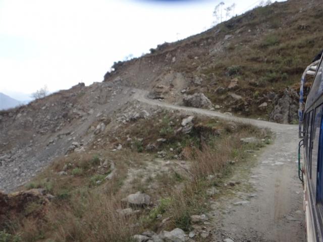 Pas large la route vers Dhunche !