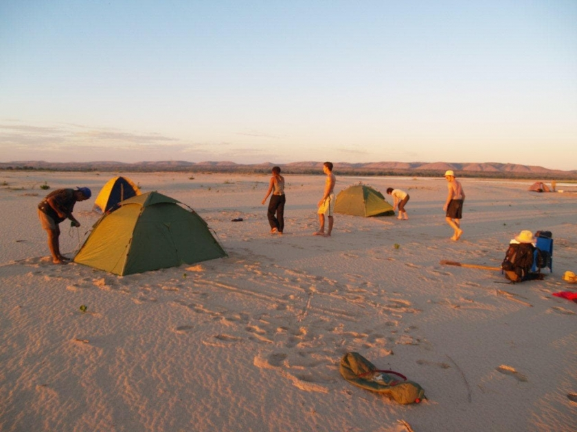 campement sur la Tsiribihina