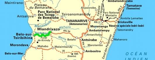 carte madagascar sur la tsiribihina