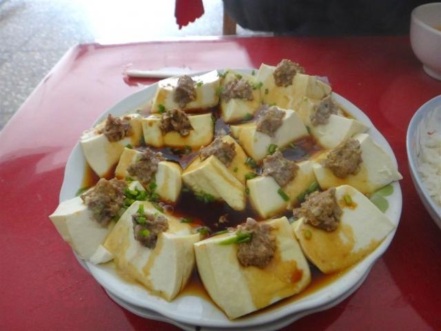 Tofu soyeux a la viande