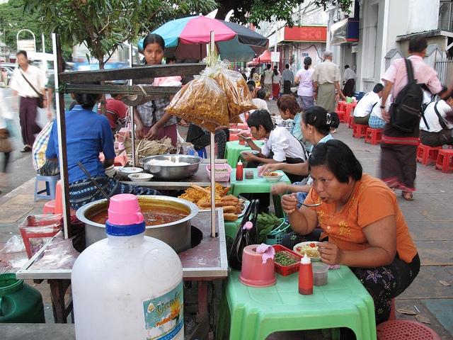 street food à Yangon