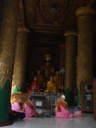 Nones devant Bouddha