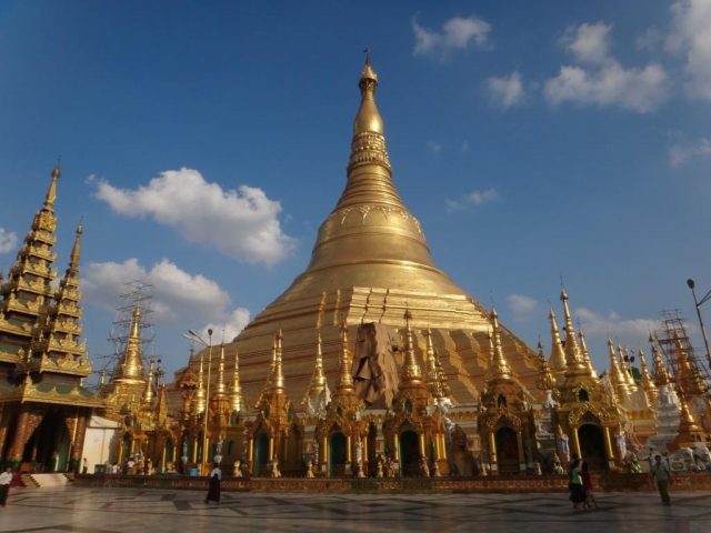 La pagode Shwedagon.