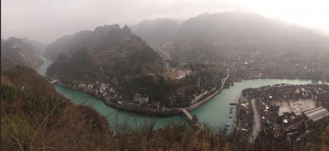 Vue sur Zhenyuan et la riviere Wuyang