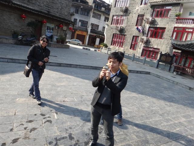 Des chinois qui nous ont photographiés. Le choc culturel est mutuel!