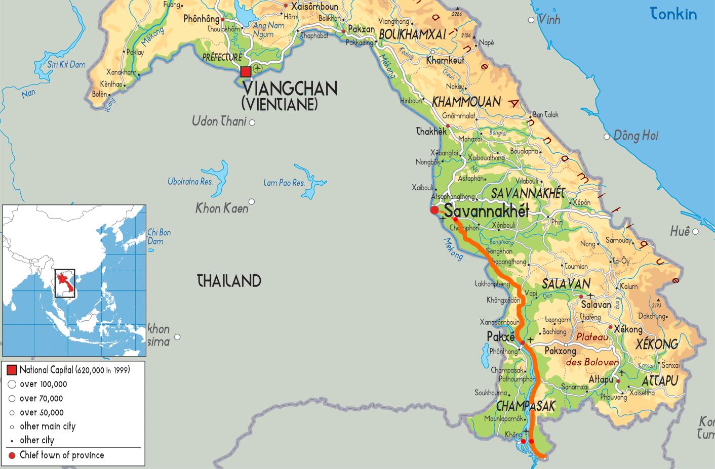 trajet Laos