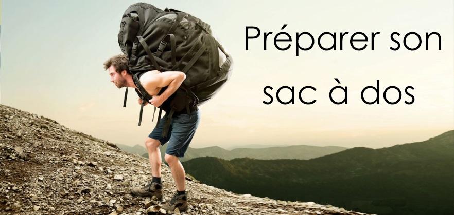 préparer son sac à dos